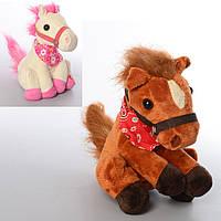 Лошадь CL1306B (48шт) 18см, муз(рус), танцует, плюш, на бат-ке, в кульке, 13-18-15см