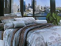 Полуторный комплект постельного белья 150х220 ЭКОНОМ (16211) Бязь хлопок_полиэстер