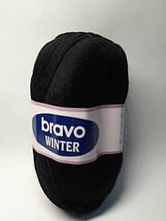 Пряжа для в'язання Bravo winter (75% шерсть) чорний