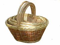 Плетеный набор корзин из лозы