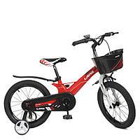 Велосипед детский 18д.WLN1850D-3N (1шт) Hunter,SKD 85,магниев.рама,красный,зв,корзина отдельно,доп.к