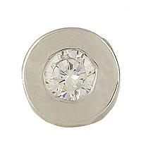 Серебряная подвеска SilverBreeze с фианитами (0708928)