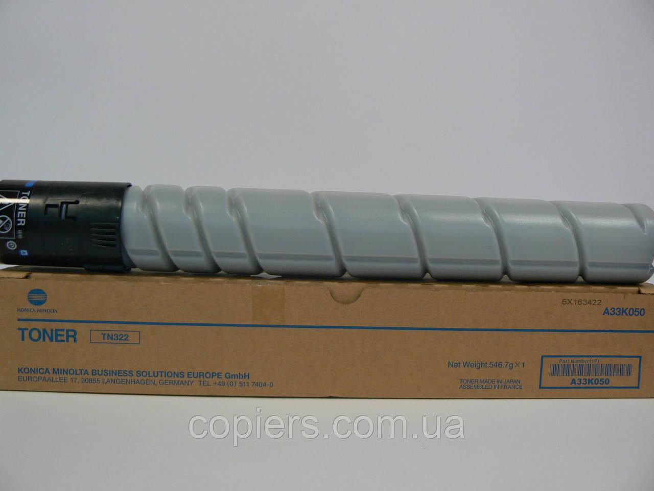 TN322 тонер A33K050 Konica Minolta Bizhub 224e/284e/364e оригинал tn-322K