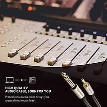 Аудио кабель стерео HI-FI UGREEN AV127 AUX 3.5mm - 6.3mm Male, TRS, 1/4-1/8 дюйма, 3 метра, фото 2