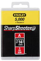 Скобы Stanley 1-TRA209T 14мм (1000шт.) (блистер)