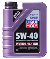 Моторное масло синтетика LIQUI MOLY 5W-40 1L Synthoil High Tech для Volkswagen , Mercedes-Benz , BMW , Skoda