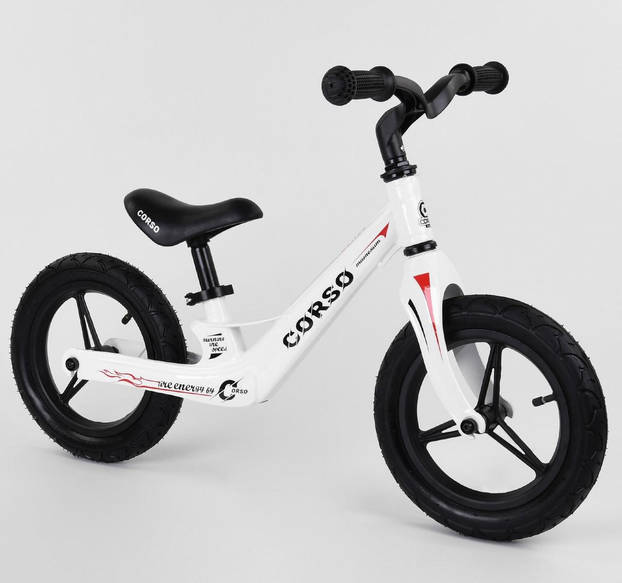 Велобіг від Corso 969 надувні колеса 12 дюймів, магнієва рама, магнієвий кермо, беговел, ровер
