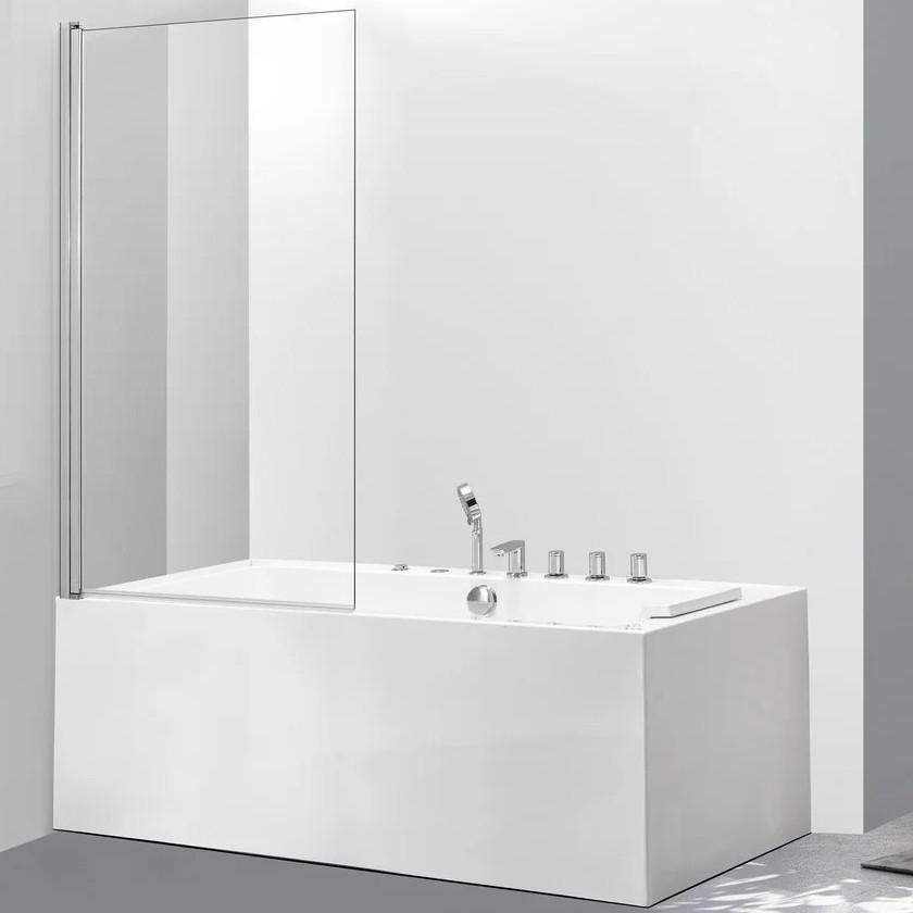 Скляна шторка для ванни AVKO Glass 542 70х140 см Clear перегородка для ванної
