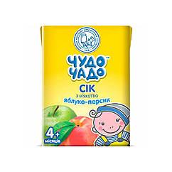 Сік Чудо Чадо Яблуко-Персик, 4+, 200мл