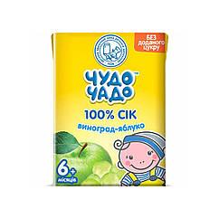 Сік Чудо Чадо Виноград-Яблуко, 6+, 200мл