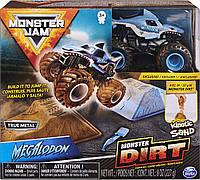 Monster Jam Набор джип внедорожник Мегалодон и набор для дрифта с кинетическим песком Megalodon Monster Dirt