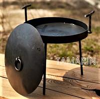 Сковорода туристическая из диска бороны 30см (с крышкой) для костра