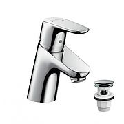 Смеситель для умывальника с клапаном Hansgrohe 31604000 Focus Е270, Германия