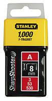 Скобы Stanley 1-TRA205T 8мм (1000шт.) (блистер)