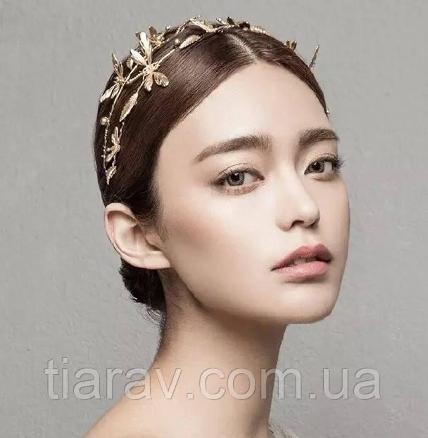 Тіара, прикраса для волосся, САРМА, діадема з метеликами