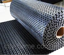 Килимок гумовий сота рулонний 100 х 900 х 1,3 см чорний
