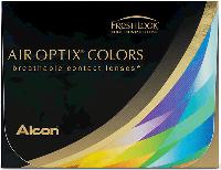 Цветные контактные линзы Alcon Air Optix Colors Бриллиантовый синий (Brilliant blue) 2 линзы