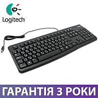 Клавиатура Logitech K120, черная, проводная, украинская раскладка, логитек USB (920-002643)