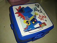 Ланчбокс двойной с вилкой и ложкой Турция  021175 Hobbi Life ланч бокс контейнер, ланч бокс с приборами, фото 1