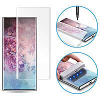 Протиударне Захисне скло 3D Mocolo NEW з УФ лампою для Samsung Galaxy Note 10 Plus Прозорий Олеофобним