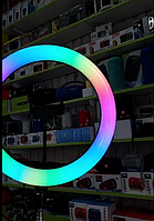 Кольцевая лампа Цветная светодиодная 21 см.Штатив 2 м.10 см.Держатель для телефона.Подарок Селфи-палка..Акция-