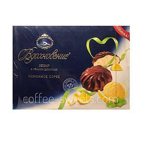 Зефир Вдохновение в темном шоколаде со вкусом лимона 245 гр.