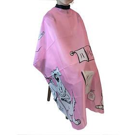 Накидка парикмахерская Eurostil 02508/70, детская розовая