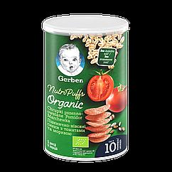 Пшенично-вівсяні снеки Gerber з томатами та морквою, 10+, 35г