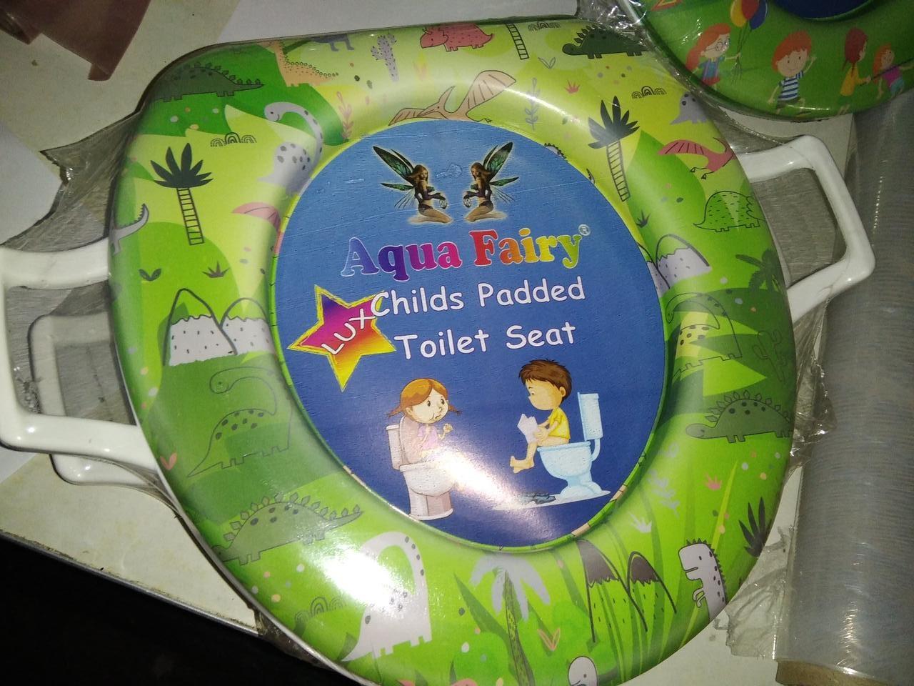 Накладка, вставка детская, сиденье для унитаза детская ,мягкая, удобная Украина Aqua Fairy с ручками