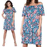 Ночная рубашка свободного кроя из вискозы с принтом цветов Italian Fashion OPUNCJA , M, фото 2