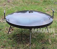 Сковорода туристическая из диска бороны 40см (с крышкой) отдыха на природе