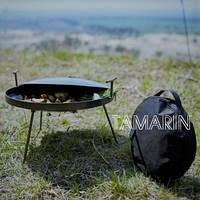 Сковорода туристическая из диска бороны 50см (с крышкой и чехлом)