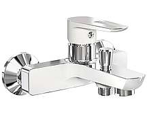 Смеситель для ванны, хром/белый, 40 мм 10245W IMPRESE BRECLAV, Чехия