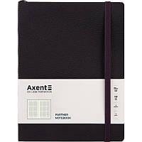 Книга записна Partner Soft L, 190*250, 96 арк, кліт, чорна, фото 1