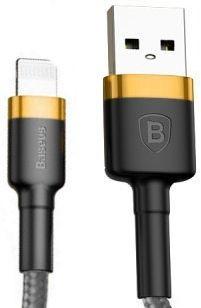 Кабель USB Baseus Kevlar Lightning 2m Black/Gold (CALKLF-CV1)