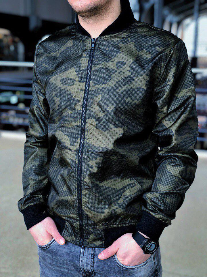 Бомбер Весна мужская осенняя куртка камуфляж