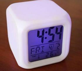 Светящиеся часы будильник - Хамелеон