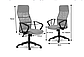 Крісло офісне комп'ютерне з мікросітки Sofotel Sydney Червоне, фото 2