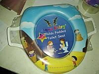 Накладка, вставка детская, сиденье для унитаза детская ,мягкая, удобная Украина Aqua Fairy с ручками, фото 1