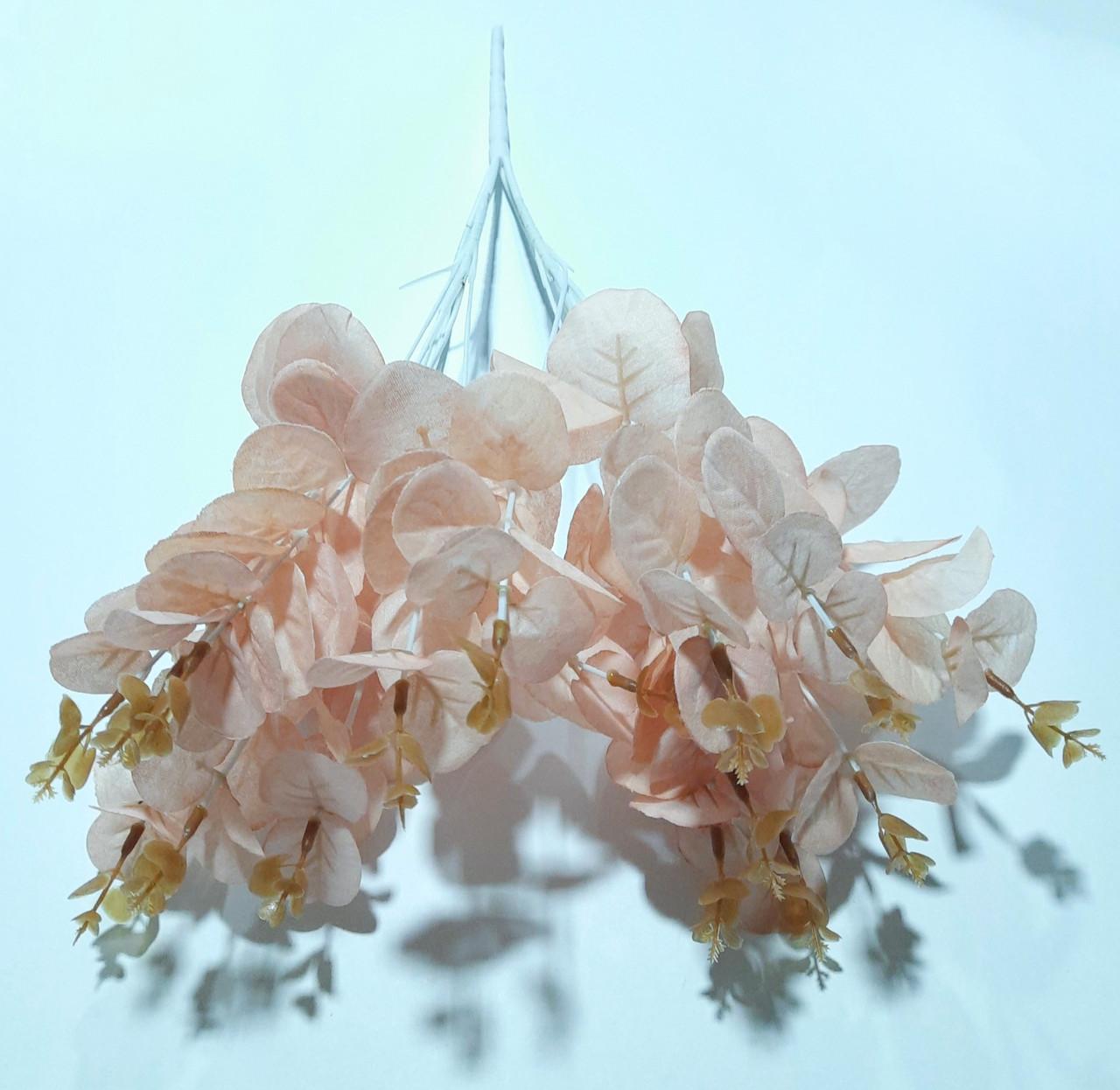 Кущ евкаліпта штучний 46 см, персиковий
