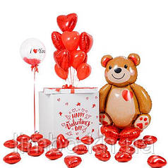 Оформление шарами на день рождения для любимой
