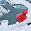Скребок для чистки лобового стекла от снега и льда. Круглый скребок для машины. Автомобильный скребок, фото 4