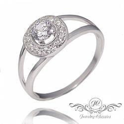 Кольцо серебряное с Фианитами Арт. P1344