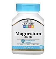 21st Century Magnesium 250 mg, 110 таблеток