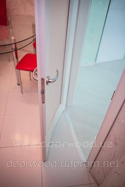 Дверь радиусная, межкомнатная из массива ясеня или дуба