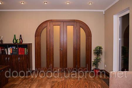 Дверь арочная, межкомнатная из массива ясеня или дуба