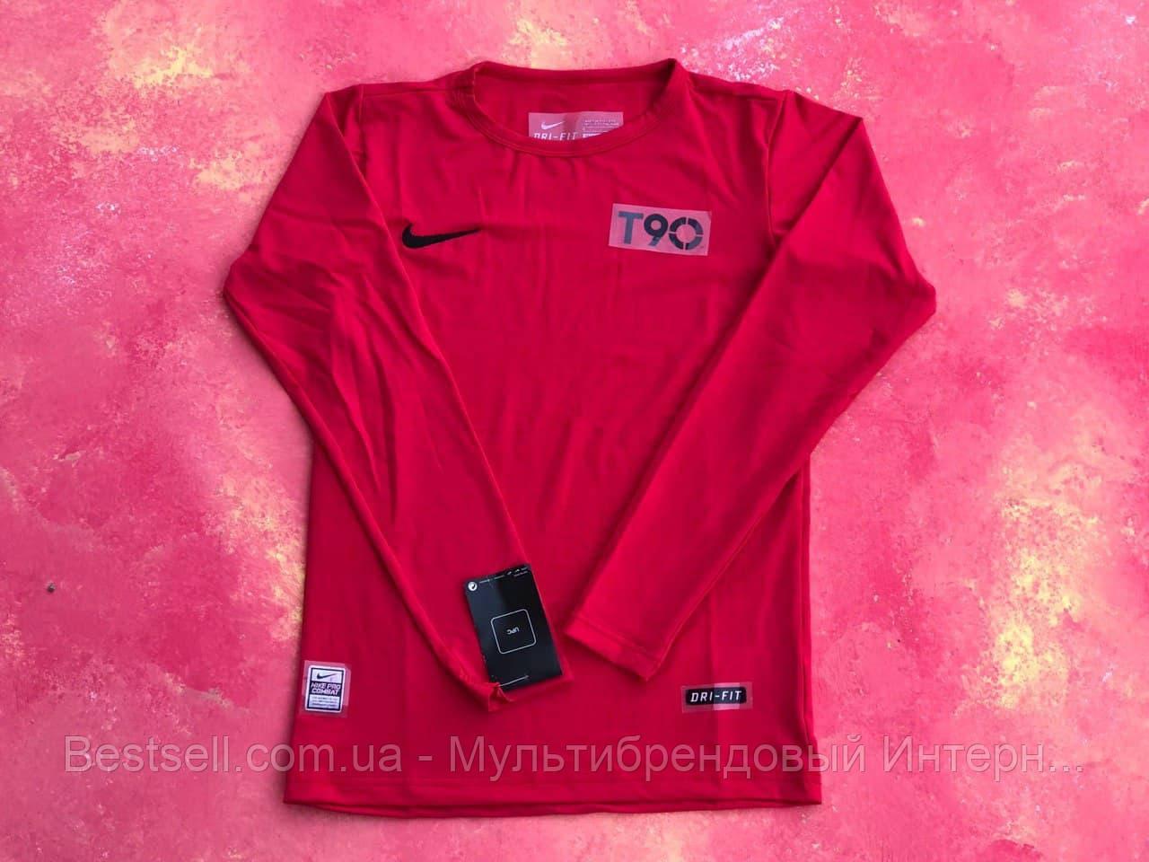 Термо-кофта красная Nike Pro Combat Core Compression / компрессионные кофта / термобелье