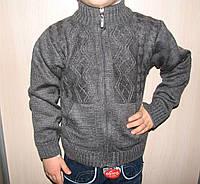 Кофта вязаная на змейке для мальчика 3-4 года. Турция