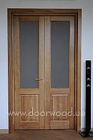Дверь двустворчатая, межкомнатная из массива ясеня или дуба