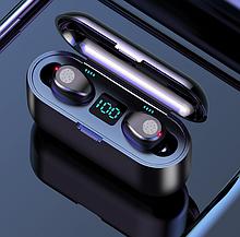 Безпровідні Bluetooth сенсорні навушники Amoi F9 Black з зарядним кейсом